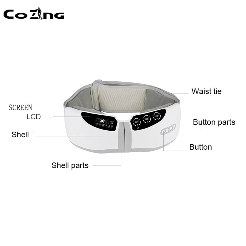 Cinturón de pérdida de peso cinturón de masaje eléctrico para adelgazar COZING