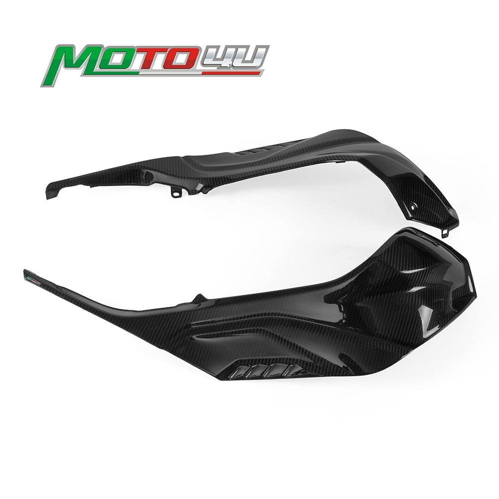Protectores de Panel de carenado lateral para BMW S1000RR 2019 2020 fibra de carbono para depósito de gasolina de motocicleta 1 par S1000 RR