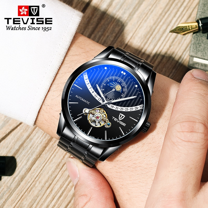Men Mechanical Watches Fashion Luxury Automatic Watch Clock Male Business Waterproof Wristwatch relo