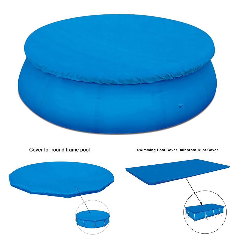 Cubierta impermeable para piscina de 2,8 m, 3m, 3,4 m, 4,6 m, de PVC, adecuada para piscinas de 8 pies, 9 pies, 10 pies y 14 pies, 1 unidad