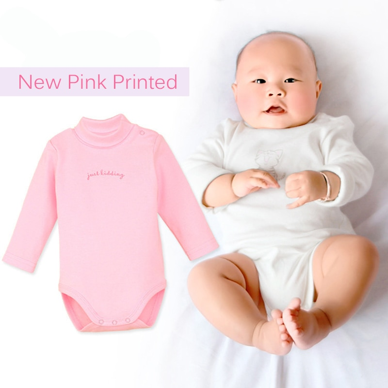 Одежда для маленьких девочек и мальчиков, боди для новорожденных, новый топ для малышей, хлопковые боди с длинным рукавом и высоким воротник...