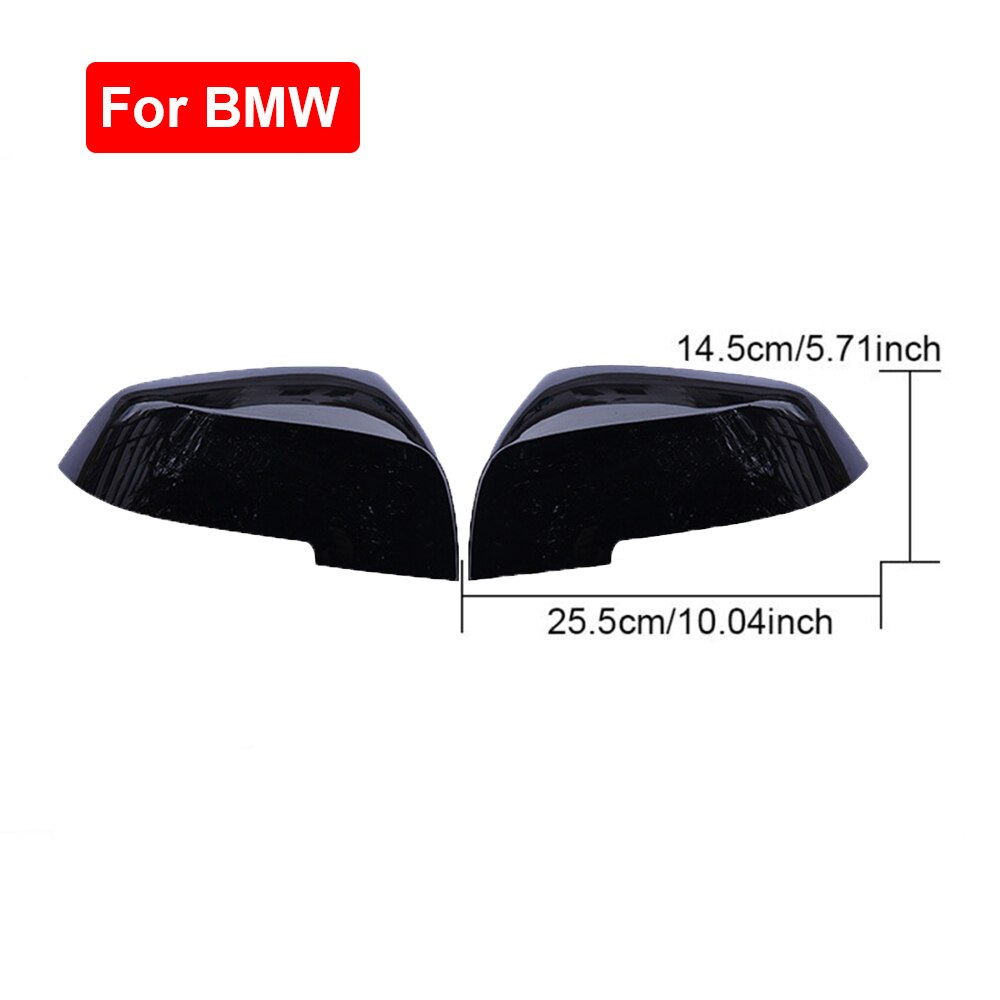 2 piezas ABS negro coche espejo retrovisor tapa para BMW F20 F22 F23 F30 F31 F32 F33 F36 F87 accesorios para cubiertas de espejo automático