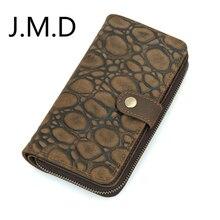 J.M.D haute qualité Crazy Horse cuir portefeuille hommes pochette sac de carte de crédit 8126