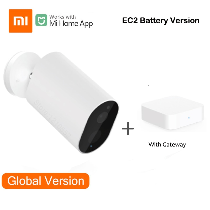 Inteligente ao ar Wifi com Bateria Ip66 à Prova Xiaomi Livre Câmera Versão Global Ddustágua Dustproof Remoto Voz Intercom Alarme mi Casa Ec2