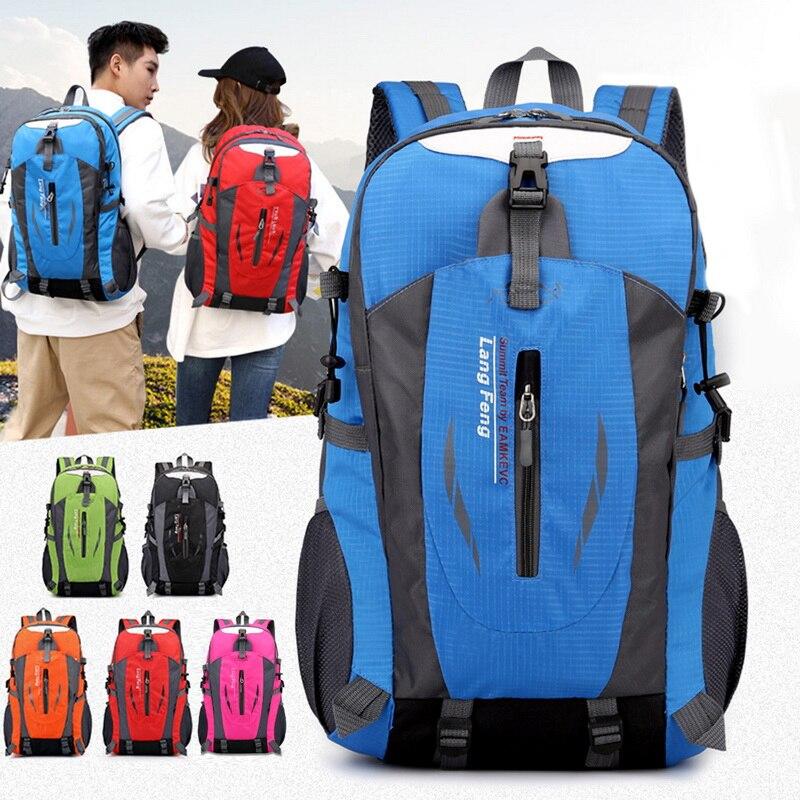 40L уличные сумки для спорта, путешествий, альпинизма, рюкзак для кемпинга, пешего туризма, треккинга, рюкзак для путешествий, водонепроницаемые сумки на плечо для велосипеда