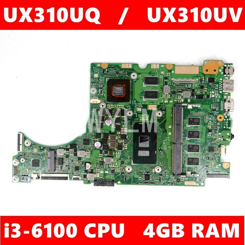 UX310UQ اللوحة 940MX/V2G i3-6100CPU 4GB RAM اللوحة REV2.0 ل ASUS UX310U UX310UV UX310UQ اللوحة المحمول 100% اختبار