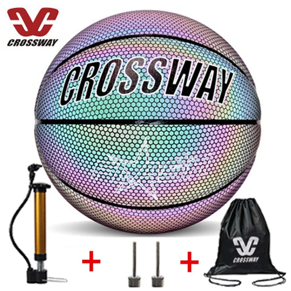 Новый баскетбольный мяч, светящийся светоотражающий баскетбольный мяч 7, баскетбольный мяч ПУ, светящийся баскетбольный мяч, Подарочный во...