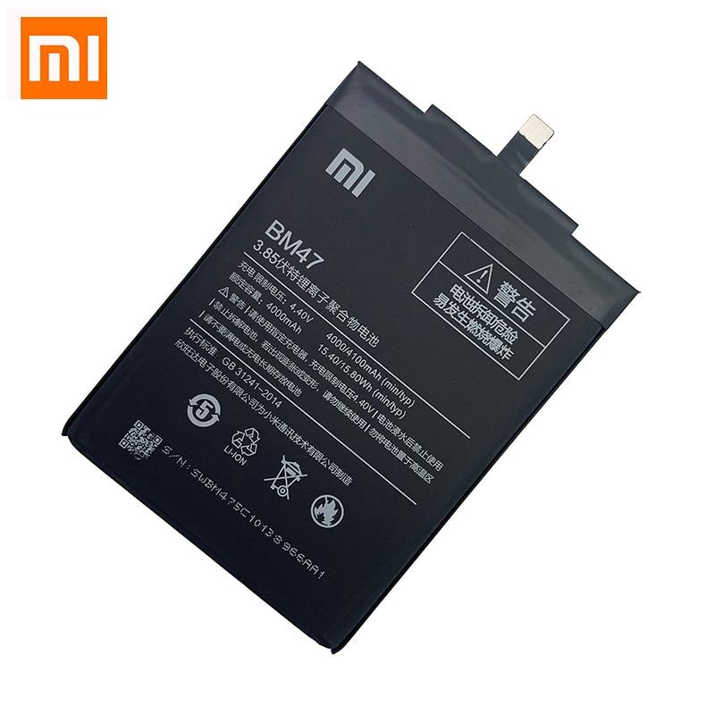 100% Original Xiao Mi Redmi 3S 3Pro Battery BM47 XiaoMi Redmi 3X Hongmi 3 S Pro High Quality Real Capacity 4000mAh Battery