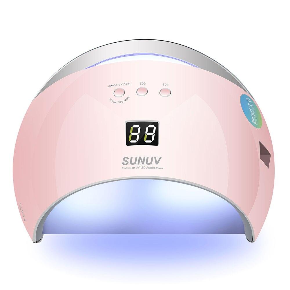 48W Uv Nagel Droger Auto Sensor Draagbare Uv Lamp Voor Drogen Lage Warmte Model Dubbele Power Snelle manicure Nail Led Lamp