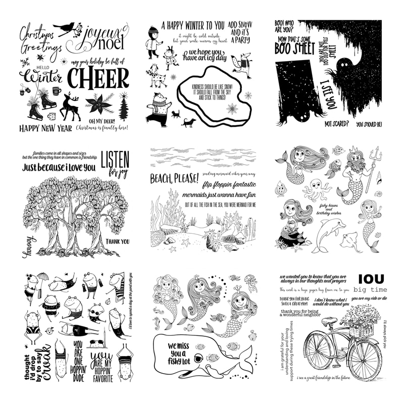 2021 New Arrival Clear Stamps For Scrapbooking Paper Making Halloween Christmas Decoration Embossing Craft Card Transparent Seal
