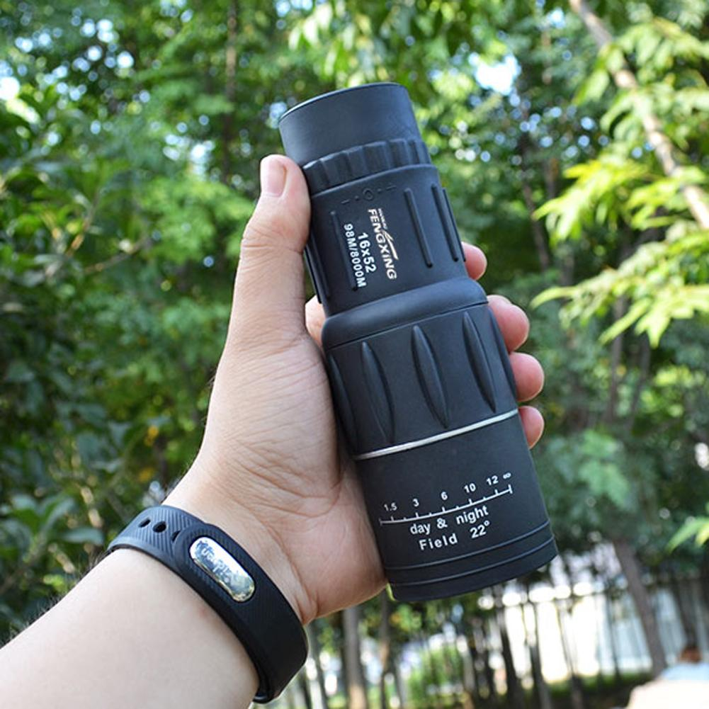 AliExpress - Durable 16X52 Dual Focus Monocular Telescope Zoom Binoculars 66M/8000M HD Scope With Strap Optical Lens/Rubber Outdoor Camp Tool