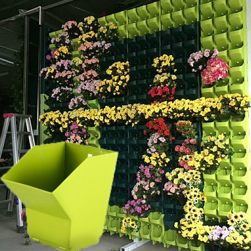 1-48pcs Three-dimensional Vertical Green Plant Pot Wall Hanging Flower Pot Multi-layer Combination Balcony Bonsai Garden Decor