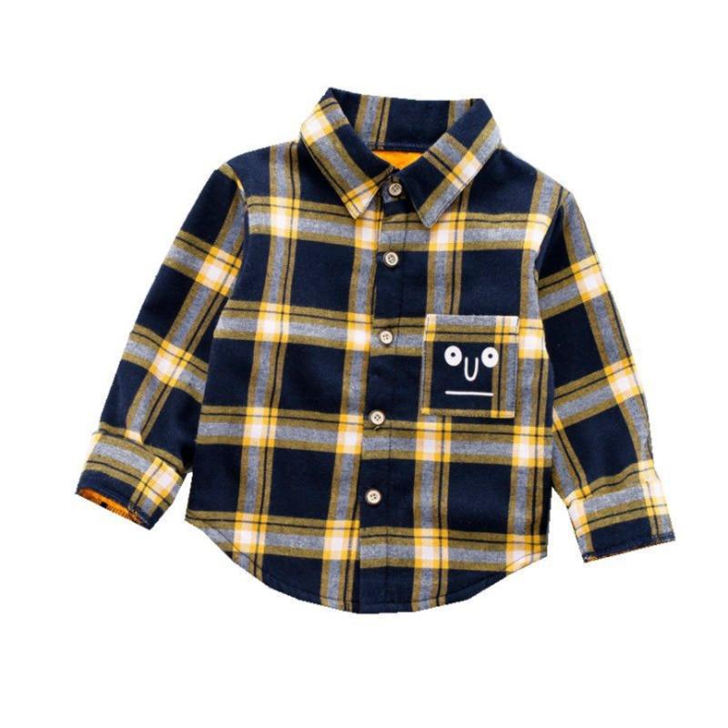جديد الخريف الشتاء طفل الفتيات الملابس موضة الأطفال الفتيان القطن قميص قطعة واحدة طفل ملابس كاجوال الرضع الاطفال AN002
