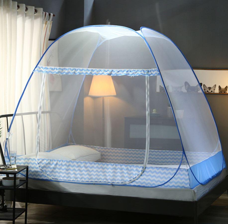Mosquitera de una puerta, dosel portátil para insectos, cama plegable automática, litera, tienda de red transpirable, 4 colores
