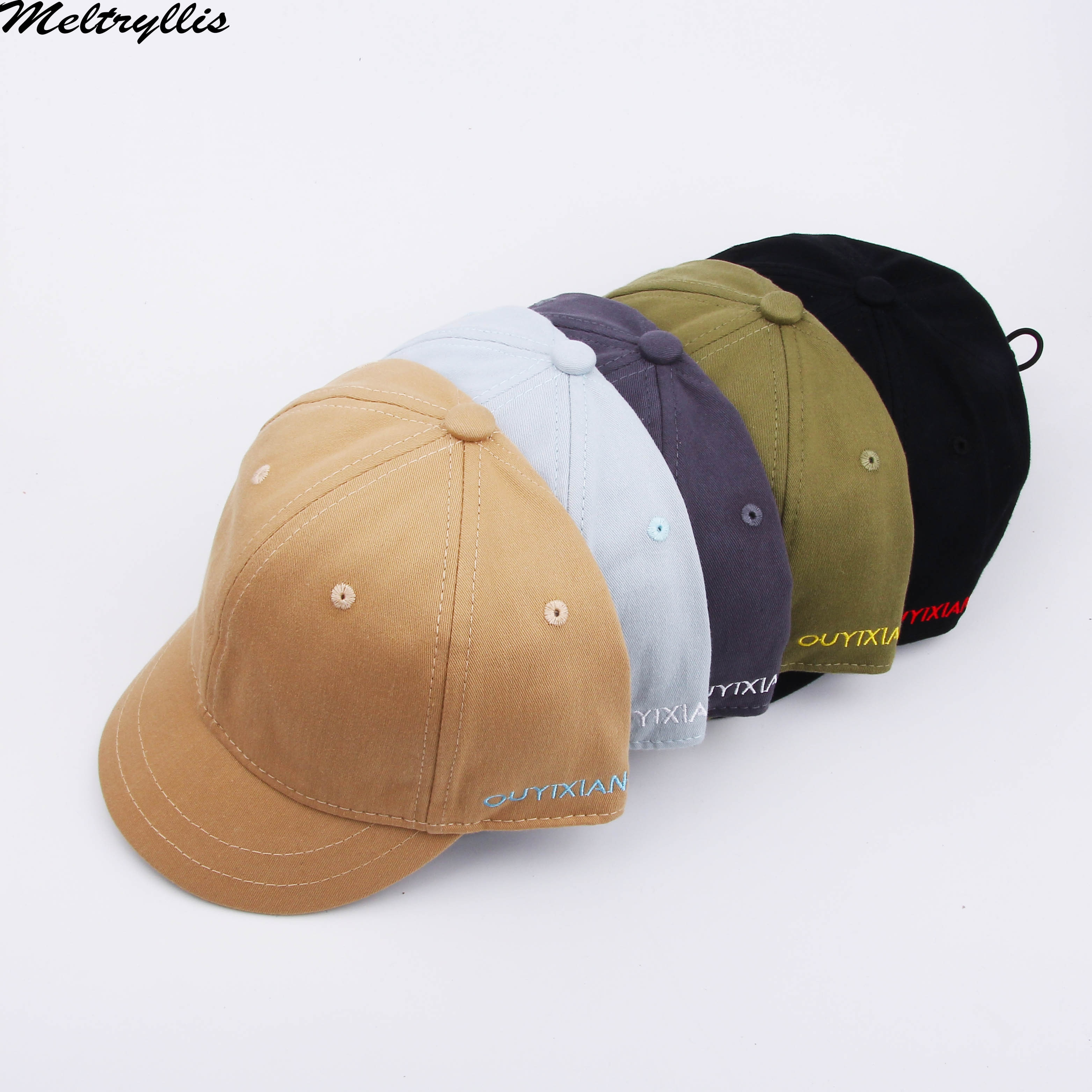 [Meltryllis]New Spring Cotton Short Brim Baseball Cap Letters Embroidery Hat for Women Men outdoor Visor Cap casual Snapback Hat