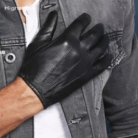 prime classic mens police unlined gloves slim fit tight style tactical dress glove chauffeur real nappa leather driving gloves