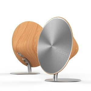 Wireless bluetooth speaker retro wooden desktop speaker support NFC touch surface subwoofer home audio stereo speaker boom box