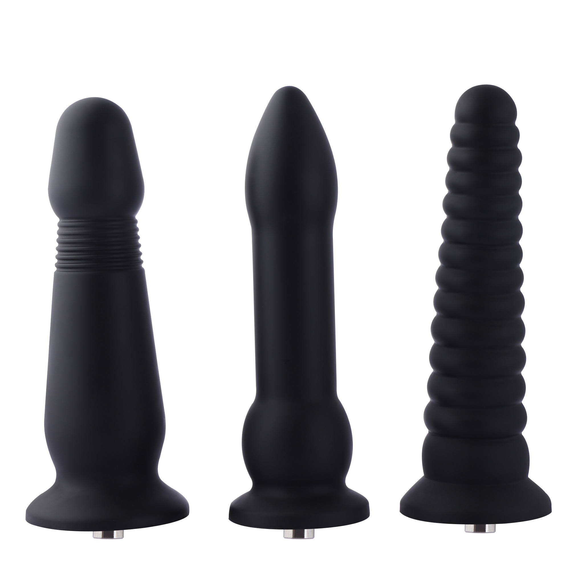Hismith-قابس شرجي سيليكون 25 سنتيمتر مع klicluke ، قابس شرجي كبير لآلة الجنس Hismith Premium ، قضيب شرجي أسود طويل ، قابس شرجي