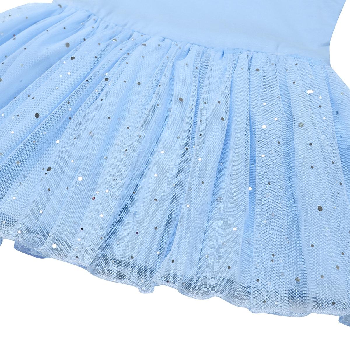 Kids Girls Shiny Glitter Ballet Tutu Dress Gymnastics Leotard Mesh Ballerina Dance Costume Lyrical Praise Tulle Dancing Dresses