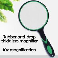 Lupa de aumento 10X Lupa de mano para lectura lente de aumento grande con mango suave antideslizante, Lupa de reparación Hobby