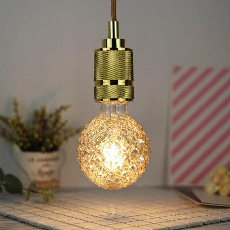 220V 4W E27 G95 Retro LED Light Bulb Pineapple Shape Warm White Light Decorative LED Bulb