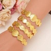 1pc gold dubai india girls coin bangle bracelet women girl bracelet african children bairn jewelry men mideast boy arab gift
