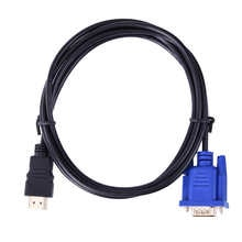 1.8M HDMI-compatible Cable To VGA Adapter HDMI-VGA Connector Cable 1080P With Audio Converter Adapter For Device with Decoder