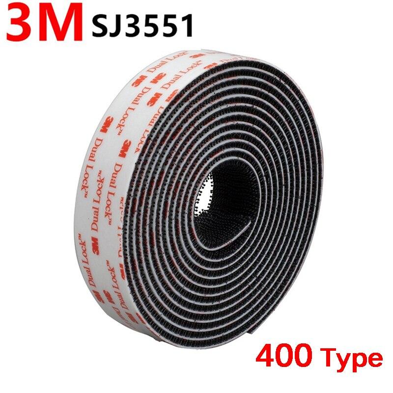 Adhesivo de seta negra SJ3551, 3M, doble bloqueo, con cinta ajustable, velcro...