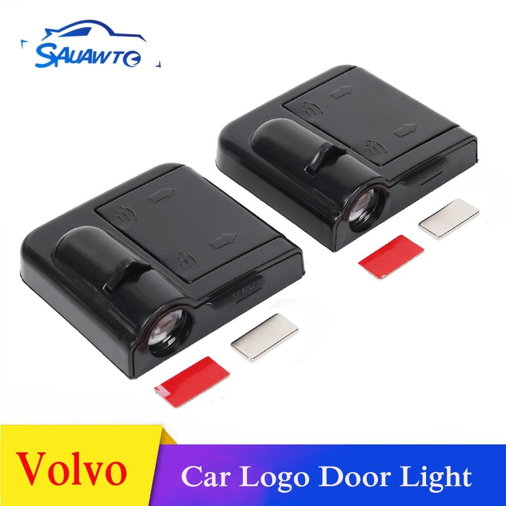 La puerta del coche bienvenida proyector sombra luces logotipo para Volvo XC60 S60 S40 S80 V70 XC90 V40 V50 dados Vida 850 C30 V60 S70 940 XC70 C70