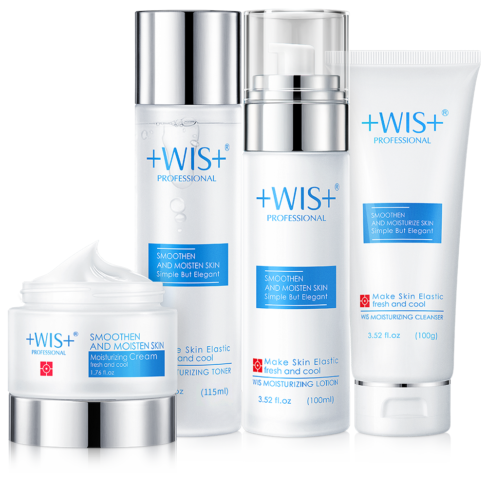 WIS Face Care Moisturizing Skin Care Set Oil Control Cleanser+Toner+Cream+Lotion недорого