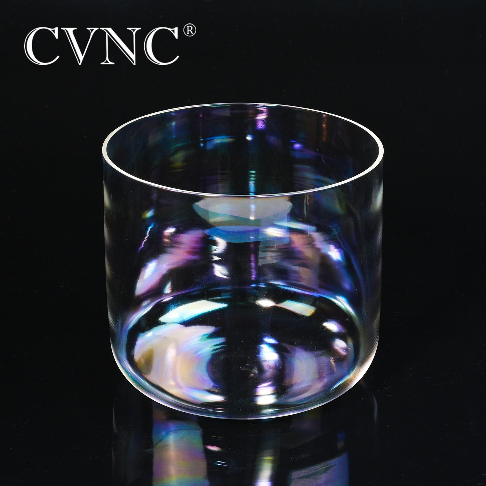 CVNC 432 Гц 6 4 octave прозрачный кварцевый Поющий чаша с естественным космическим светом