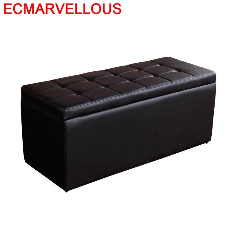 Banquinho-Taburete Plegable para sala De estar, Taburete De almacenamiento para cambiar zapatos, De Madeira, Poef
