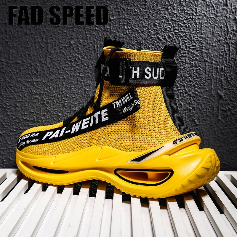 FAD SPEED 2020 новая спортивная обувь, амортизирующая обувь для бега, мужские высокие носки, дышащая повседневная мужская обувь, мягкие легкие кро...