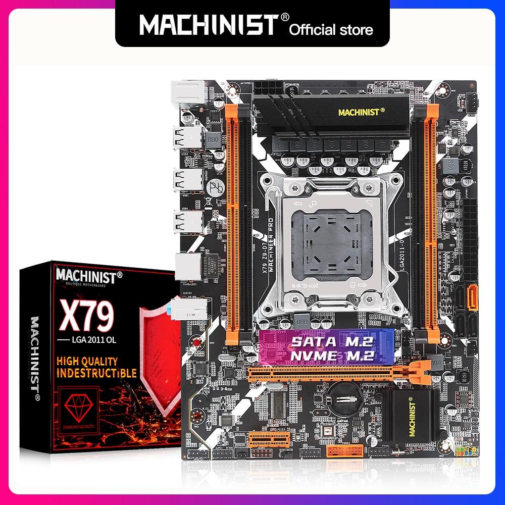 Machinist X79 Motherboard LGA 2011 Support DDR3 REG ECC Memory RAM Xeon E5 V1&V2 i71 Processor X79 Z9-D7 Desktop Board