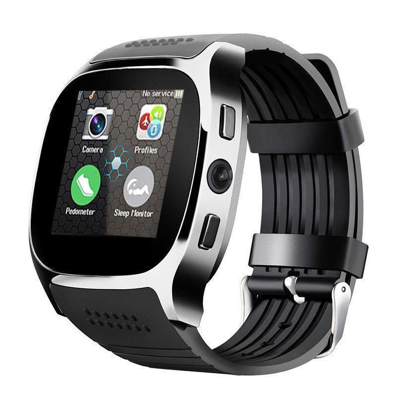DishyKooker Bluetooth inteligente del teléfono del reloj amigo SIM FM podómetro para IOS Android iPhone Samsung