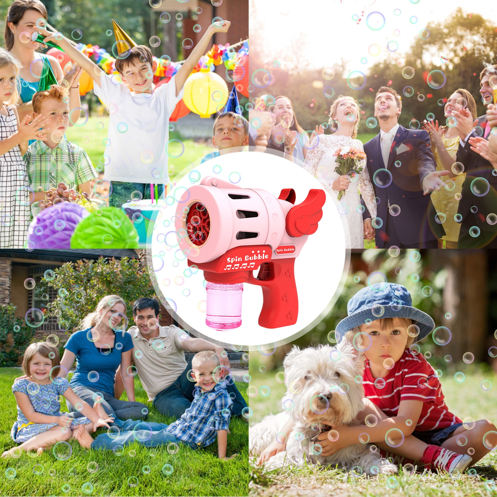 Bubble Machine Automatic Bubble Blowing Cartoon Bubble Maker No-leak Battery Powered Fun Safe Children's Outdoor Toy  - buy with discount