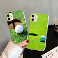 golf titleist brand phone case for iphone 5s 6 7 8 11 12 plus xsmax xr pro mini se transparent cover fundas coque