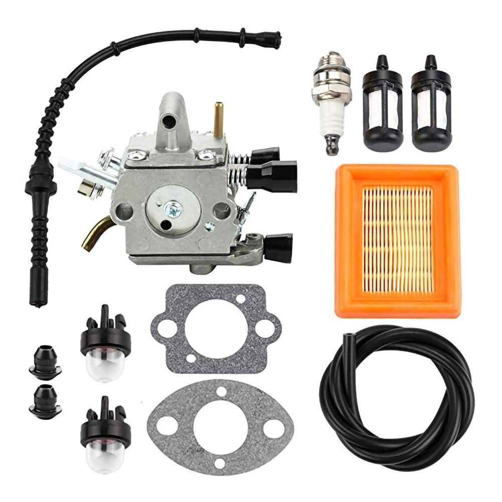 Carburetor Air Filter Primer Bulb Fuel Repower Kit for Stihl FS120 FS200 FS250 FS300 FS350 FR350 FR450 String Trimmer