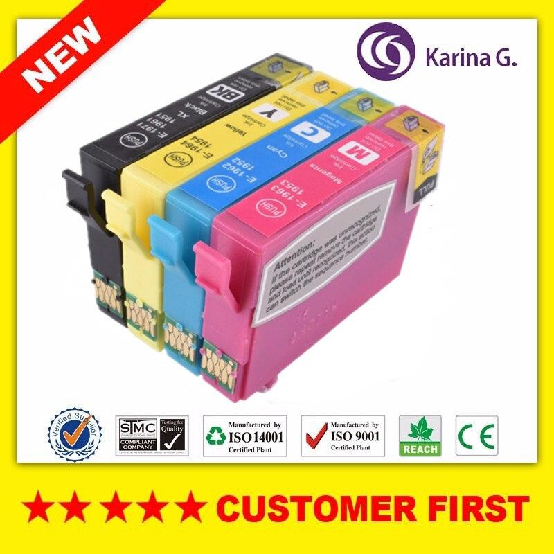 Compatible para T1971 T1961 T1951 cartucho de tinta para Epson XP-101 XP-201 XP-211 XP-401 XP-204 XP-104 XP-214 XP-411 XP-WF-2532 etc