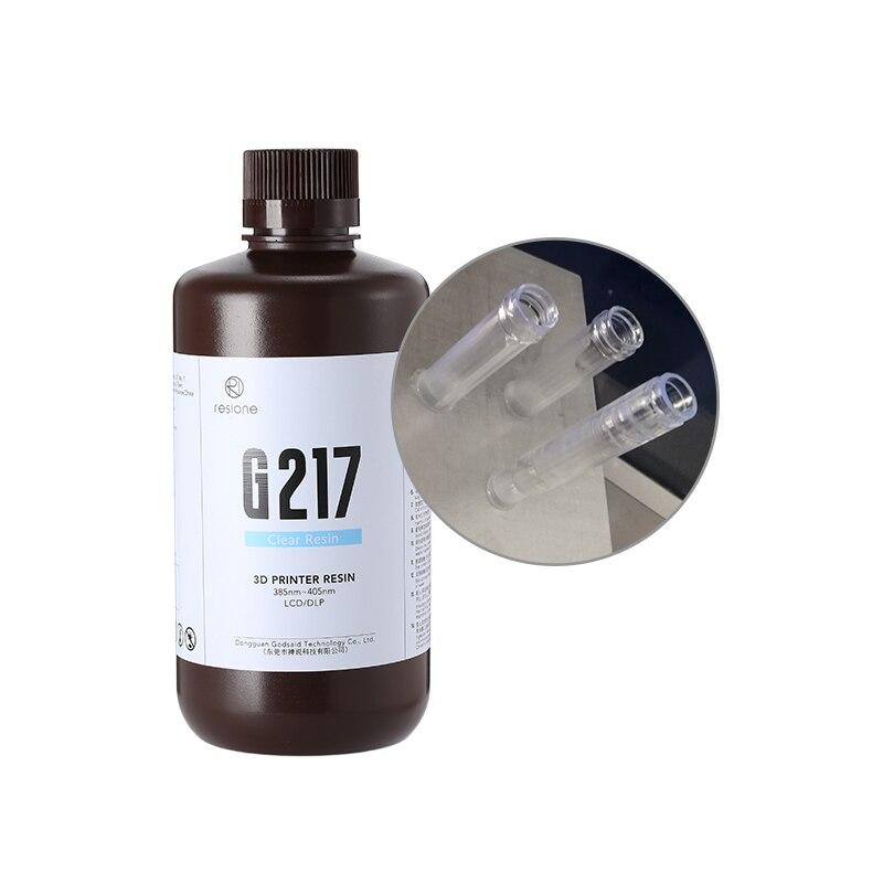 Resione G217-1kg الأسنان لا اصفرار واضح 3d الراتنج ل LCD SLA DLP Elegoo المريخ Phrozen Anycubic الفوتون الراتنج 3d طابعة