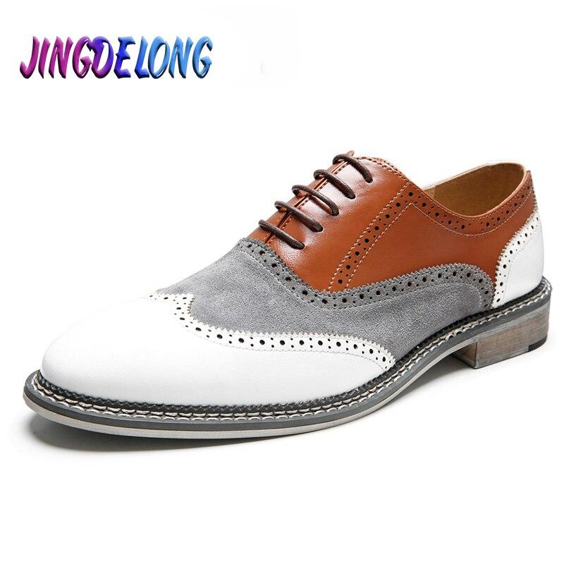 ¡Novedad! zapatos Brogue Retro para hombre, zapatos clásicos de negocios de cuero formal, zapatos de cuero puntiagudos, zapatos de vestir de boda Oxford para hombre