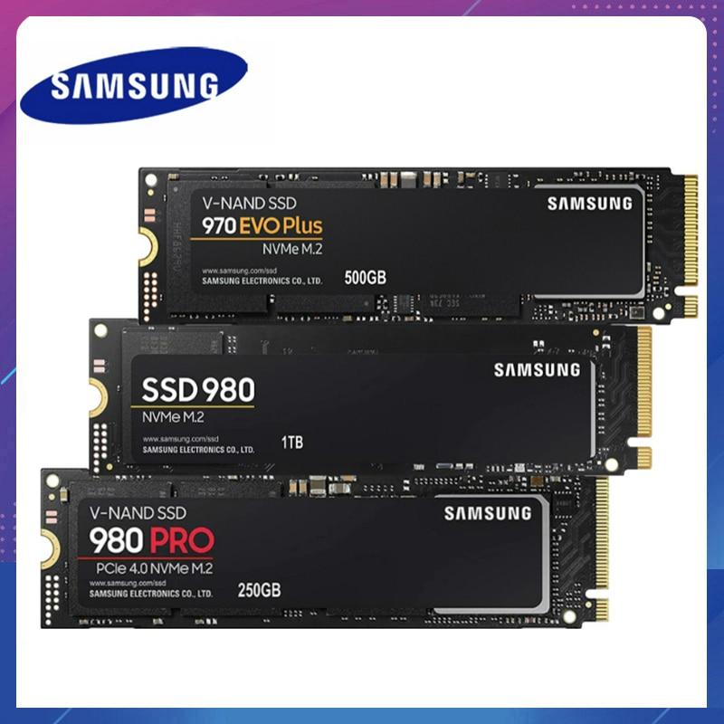 SSD M2 سامسونج SSD M.2 1 تيرا بايت 980 برو NVMe محرك الحالة الصلبة الداخلية 970 EVO Plus القرص الصلب 250GB HDD 500GB للكمبيوتر المحمول