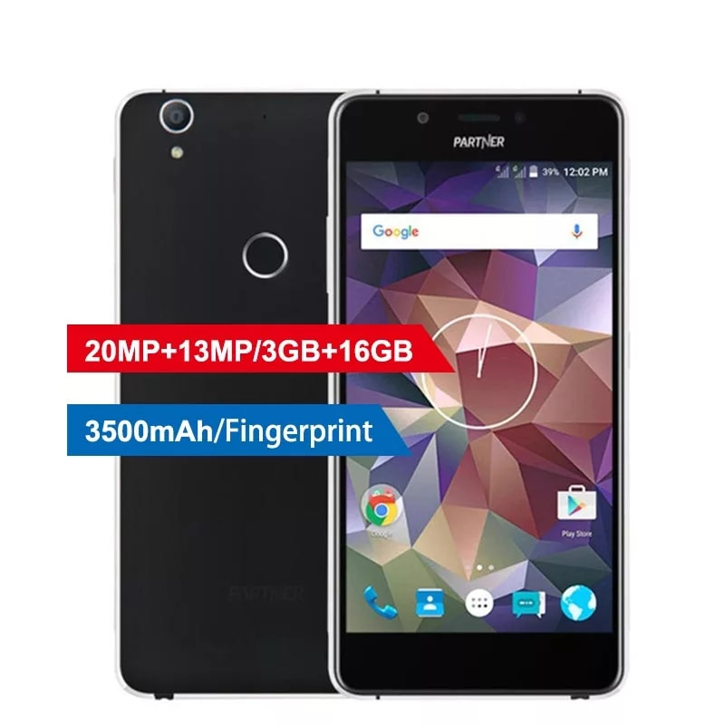 "Parceiro ps2 4g telefone móvel 3gb + 16gb 5.5 ""qualcomm snapdragon 615 octa núcleo android 5.1 impressão digital 20mp + 13mp 3500mah smartphone"