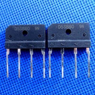 5 piezas puente rectificador D5SBA60 D5SB60 puente plano (5A 600V)