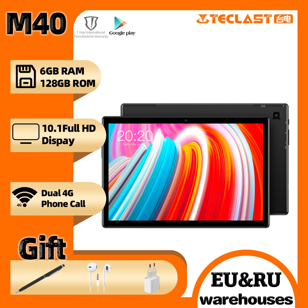Teclast M40 tablet 10.1'' UNISOC T618 Octa Core Android10 6GB RAM 128GB ROM Dual 4G Phone Call Bluetooth5.0 OTG Type-C tablets pc
