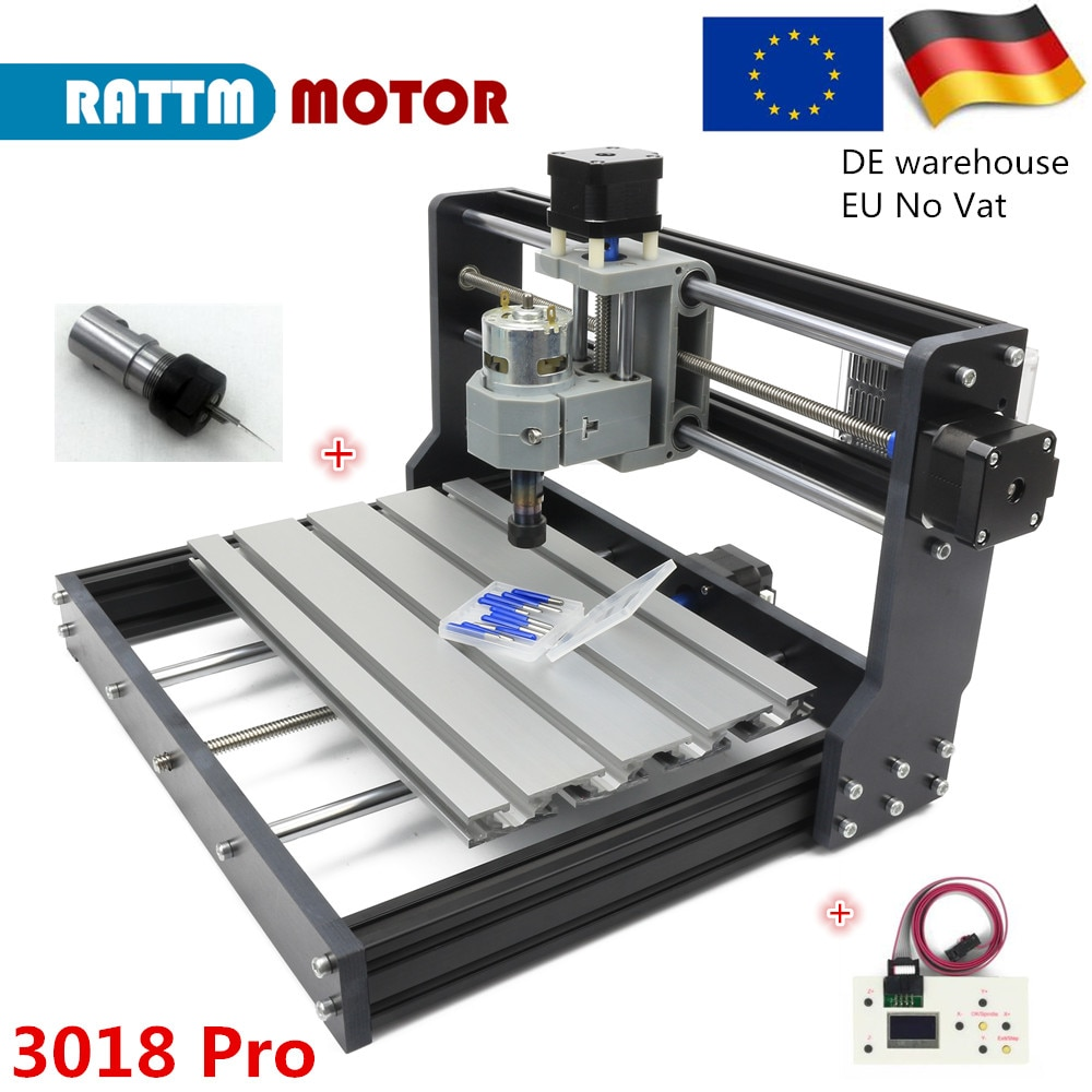 3 Axis 3018 Pro Mini CNC laser engraving Milling machine with GRBL 1.1F controller board for DIY Hobby woodworking machine grbl cnc offline 3 axis controller board for 3018 pro 1610 2418 3018 engraving 28tc
