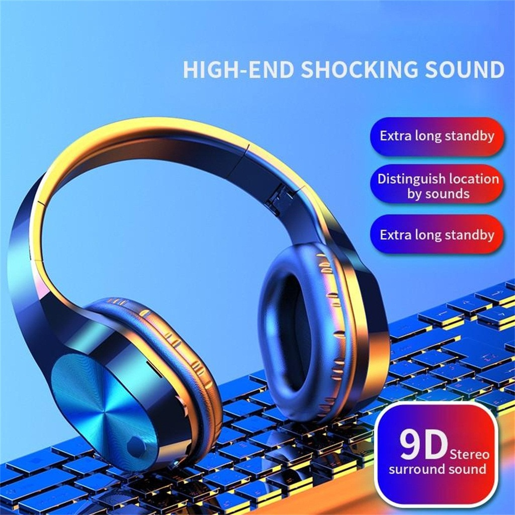 New Earphones T5 Wireless Bluetooth Headset Head-mounted Card Sports Running Hanging Ear Telescopic