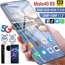 HUAWE 5G Mate40 RS Global Version Smartphone 50 MP Camera 16G 512G MTK6889+ Deca Core 6800mAh 7.3 In