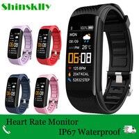 0,96 дюймовый смарт-браслет измерение артериального давления умные часы WhatsApp напоминание смарт-браслет для мужчин и женщин