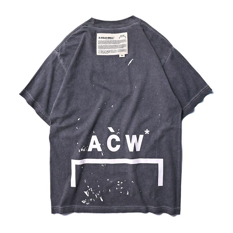 Хип-хоп ACW футболки женские мужские хлопковые A-COLD-WALL футболки уличная одежда A-COLD-WALL футболки